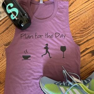 Plans for the day- coffee run wine - muscle tank
